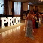 PROM Party_PROM Big Light Up Marquee Letters_Balloon Decorations_Chicago_ Yellow Shoes Eve