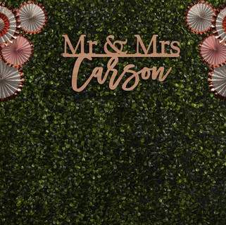 Custom Laser Cut Sign flower wall mrs mr