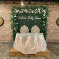 BABY shower_ Welcome Baby Party_Hedge Wall with Flowers and Customized Laser Cut name sign