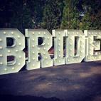 Bridal Party_ BRIDE Big Light Up Marquee Letters_Balloon Decorations_Chicago_ Yellow Shoes