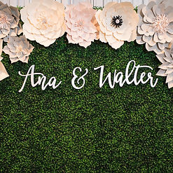 Custom Laser Cut Sign flower wall for re