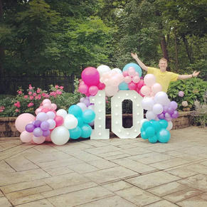 Big Light Up Marquee Letters_Balloon Decorations_Chicago_ Little Pony Brthday Decorations_