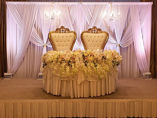 yellow shoes event rentals head table ba