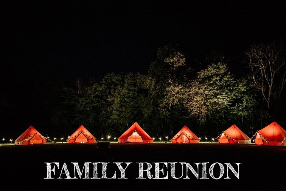 FAMILY REUNION_FAMILY SLEEPOVER IN BELL TENT_YELLOW SHOES EVENT RENTALS