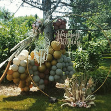 Golden Arch_Happy Birthday_Rustic Style Party_Balloon Decorations_Chicago_ Yellow Shoes Ev