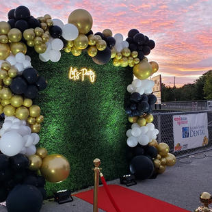 Hedge Wall_Balloons_Neon Sign_ red Carpet_HOCO_ Yellow Shoes Event Rentals.jpg