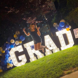 drive-by graduation party_marquee Letter