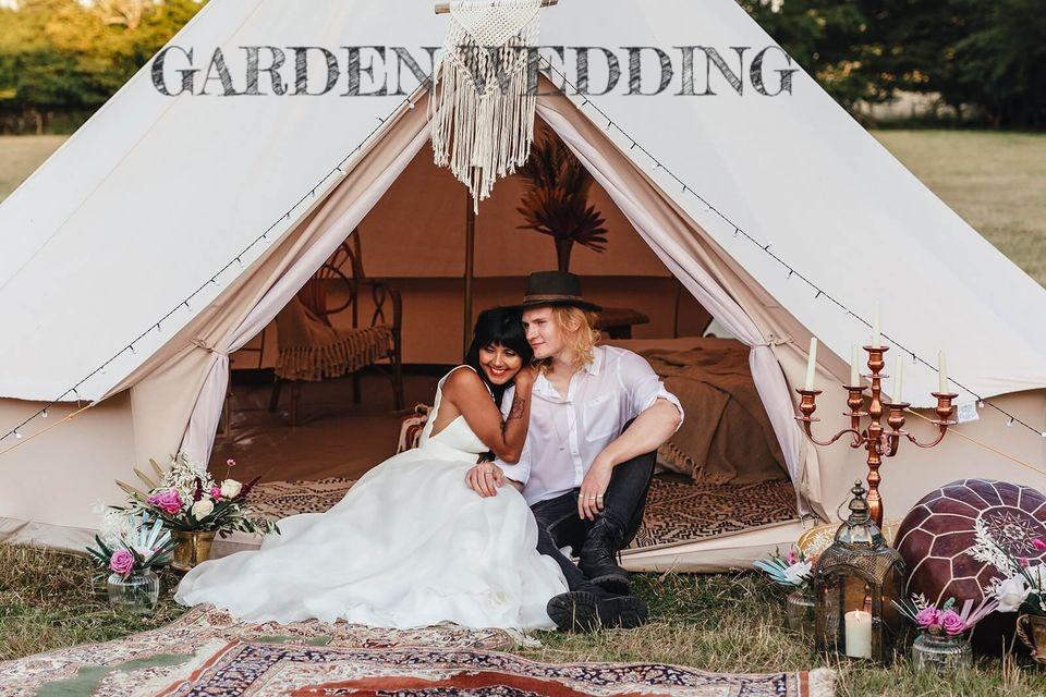 GARDEN WEDDING IN BELL TENT_YELLOW SHOES EVENT RENTALS