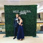PROM Rental_Hedge Wall Photo backdrop with Customized Laser Cut Logo Sign for Graduation P
