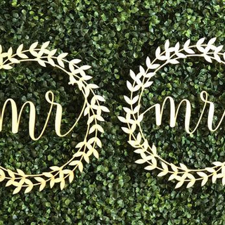 Custom Laser Cut name sine for wedding m