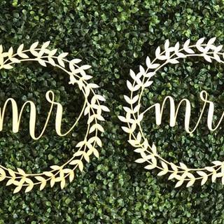 Custom Laser Cut name sine for wedding m