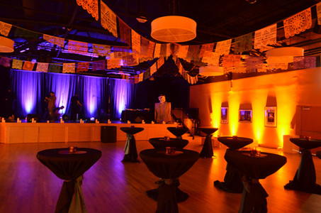 Event uplighting at Museum of Mexica Art