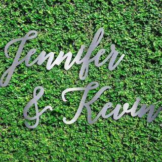 Custom Laser Cut name sine for wedding 2