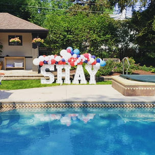 4th of July Party Decorations Rental_Big Light Up Marquee Letters_Balloon Decorations_Chic