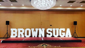 Brown Suga Big Light Up Marquee Letters_Balloon Decorations_Chicago_ Yellow Shoes Event Re