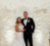 yellow shoes events flower wall backdrop