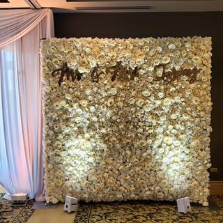 Custom Wedding Flower Wall wit laser cut
