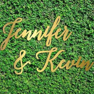 Custom Laser Cut name sine for wedding 4