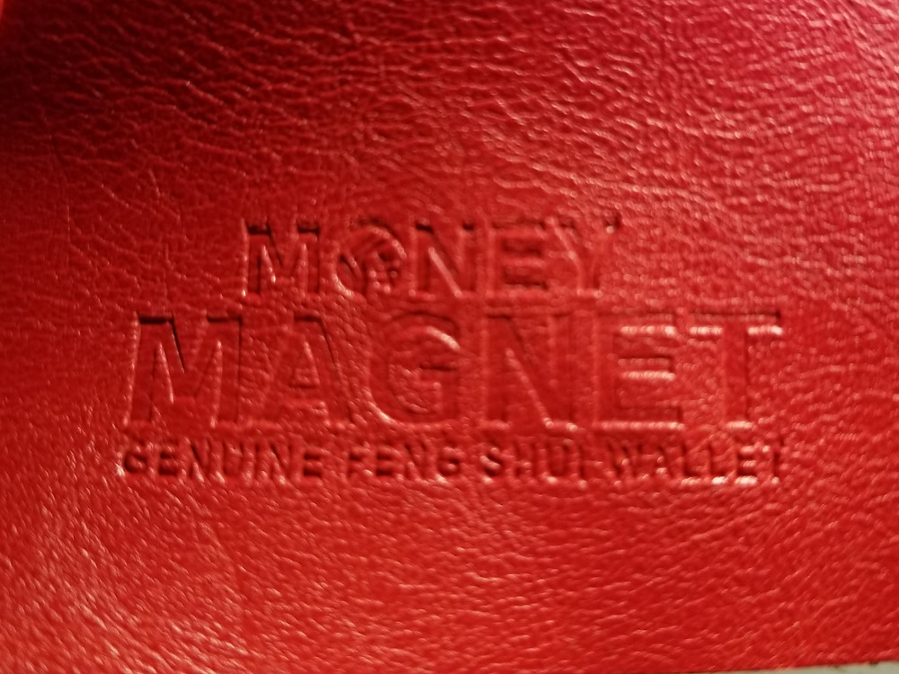 Money Magnet Genuine Feng Shui Wallet, Feng Shui Coins, red feng shui, good luck gift, goodluckgift.us