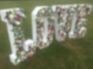 LARGE LOVE LETTERS IN FLOWERS 2 YELLOW S