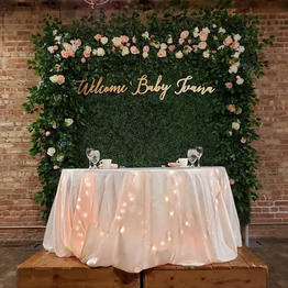 Rustic Style Hedage wall head table backdrop_Chicago_ Yellow Shoes Event Rentals.jpg