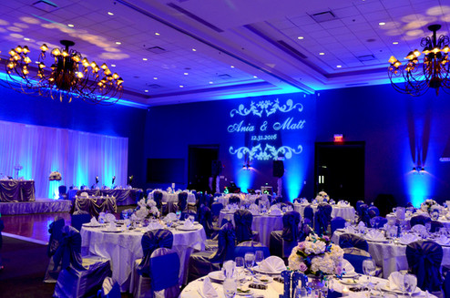 Wedding Stonegate Uplighting by Endless