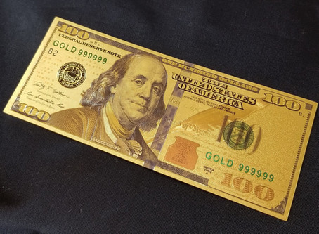 GOLDEN $100 BILL ATTRACTS MONEY