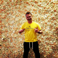 Silk Flower Wall Photo backdrop_looks as fresh flowers_Chicago_ Yellow Shoes Event Rentals