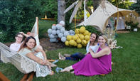 Rustic Style Decorations Rental_Backyard Party Rental_Bell Tent_Glamping Tent for rent_Chi