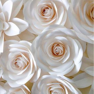 White Paper Flower Wall Backdrop rental