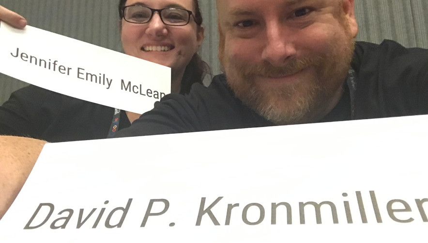We have name cards!