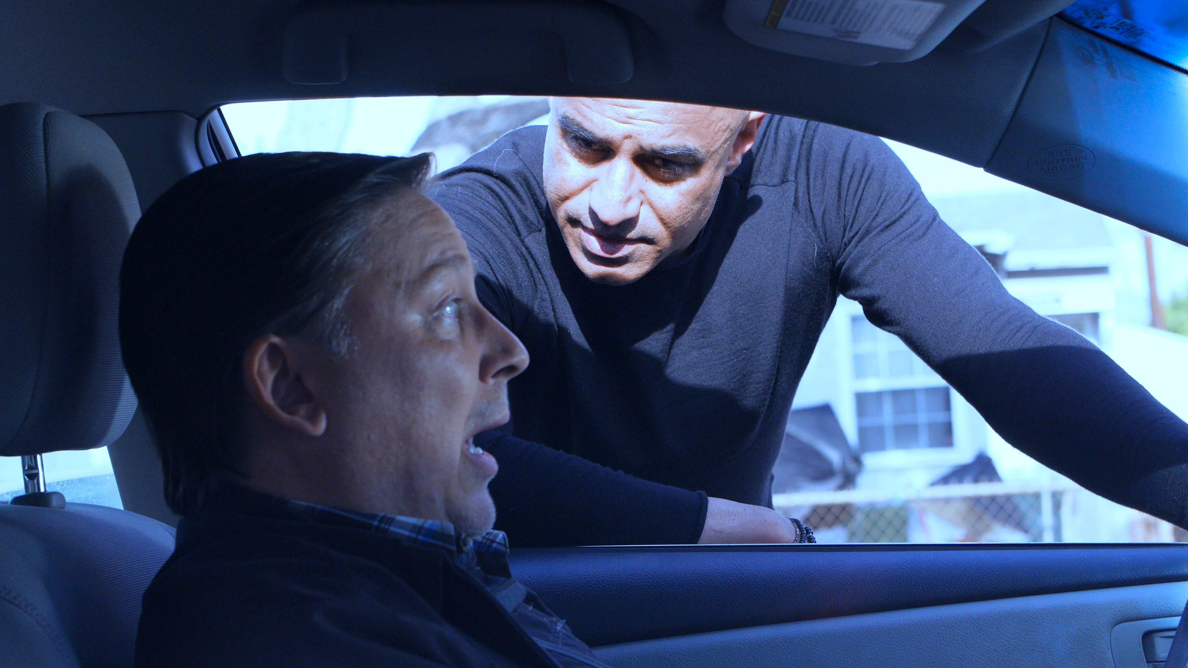 Faran Tahir as Sammi with Steve Sabo as
