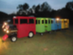 trackless train for rent