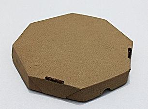 Caixa de Pizza [Pardo] [Oitavado] [Tampa e Fundo Conjugado]