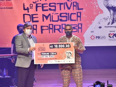 João Carlos Jr vence IV Festival de Música da Paraíba, com 'Você viu'