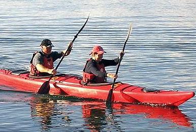Kayak doppio plastica