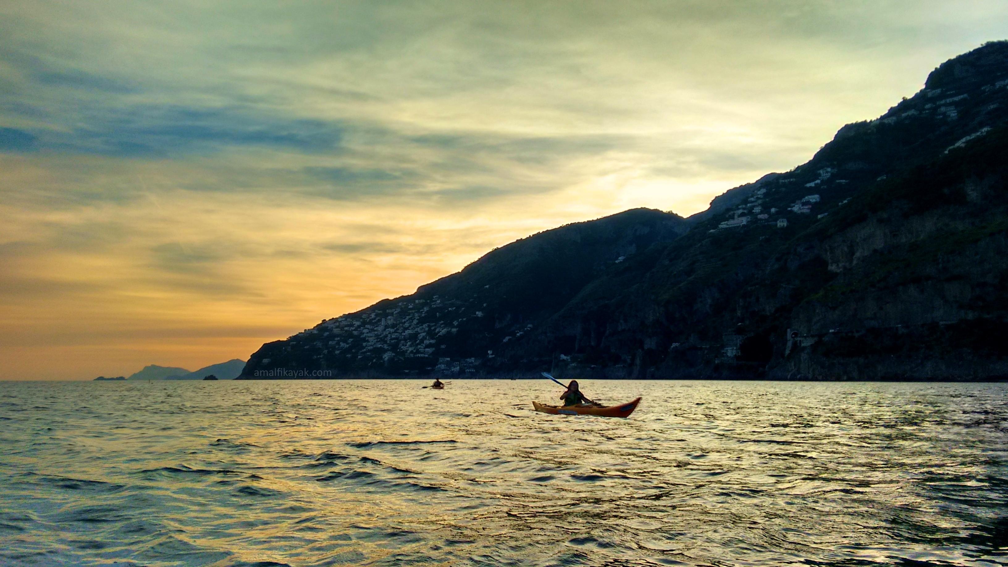 Tramonto a Praiano - Amalfi Kayaki Kayak