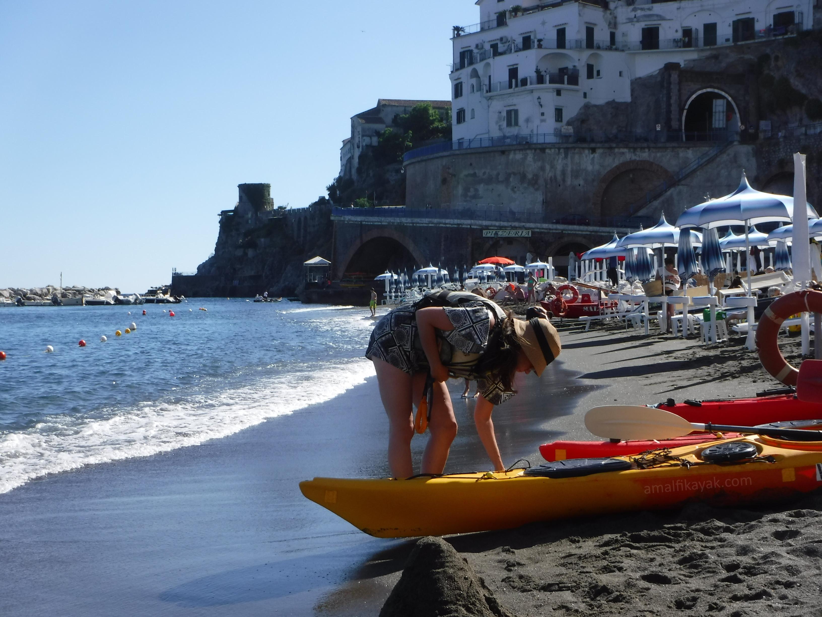 Atrani beach - Amalfi Kayak, Italy