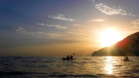 Sunset in Conca - Amalfi Kayak
