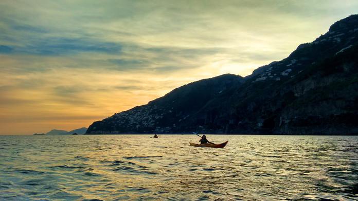 Sunset in Praiano - Amalfi Kayak
