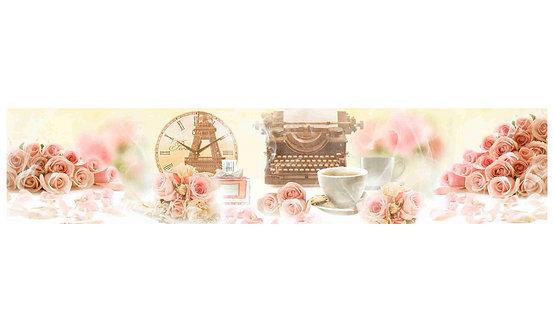 Кухонный фартук-036 Винтажные розы