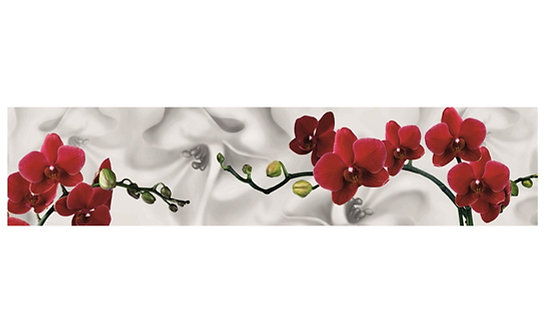 Кухонный фартук-029  Красная орхидея