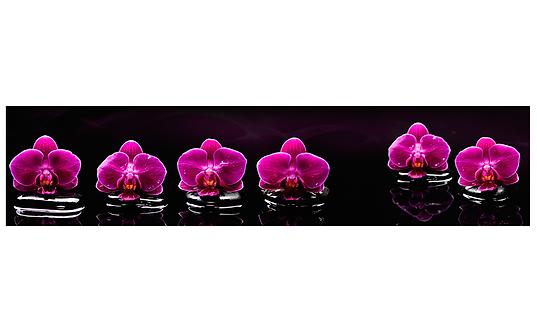 Кухонный фартук-040 Орхидеи на воде