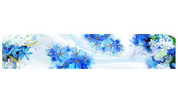 Кухонный фартук-042-8  Голубое очарование