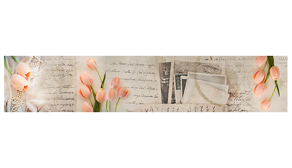 Кухонный фартук-042-2  Нежные тюльпаны