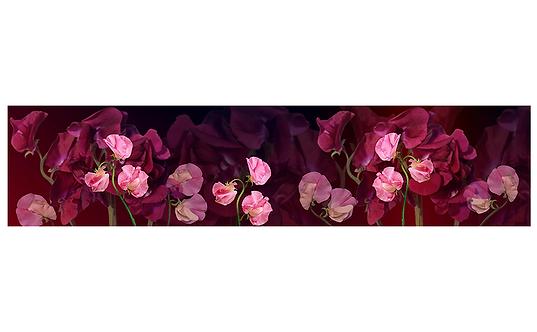 Кухонный фартук--034 Экзотические цветы