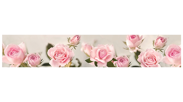 Кухонный фартук-042-1 Розовые розы