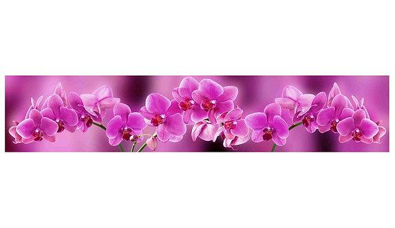 Кухонный фартук-011 Цветущая орхидея