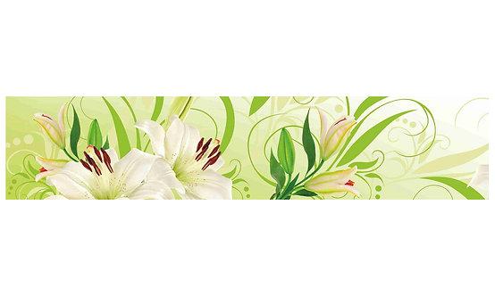 Кухонный фартук-020  Белые лилии