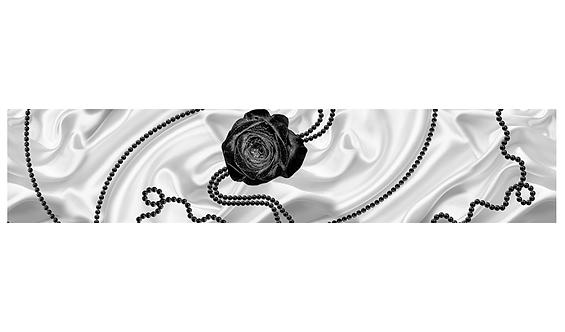 Кухонный фартук-042-7  Черный жемчуг